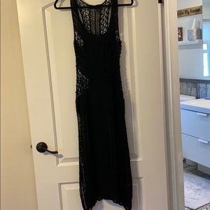 Bebe Black Crochet Dress